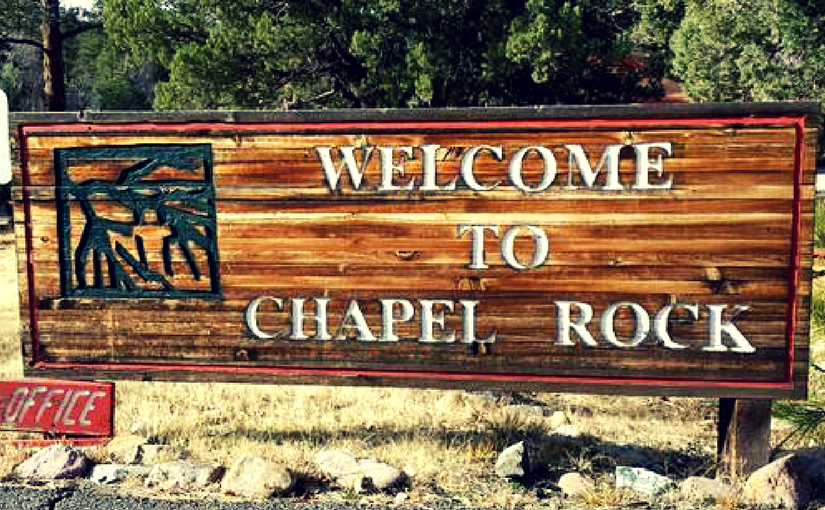 chapel rock sign