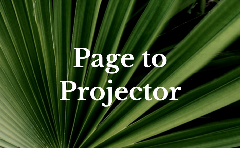 Page to Projector film series at Church of the Palms UCC, Sun City
