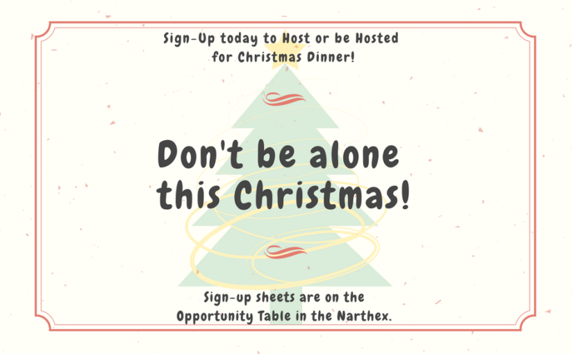 Don't Be Alone This Christmas!